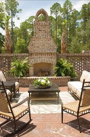 outdoor fireplace ideas beautiful brick outdoor fireplace