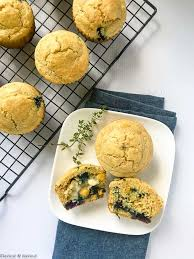 Blueberry Buttermilk Gluten Free Cornbread Muffins Flavour And Savour