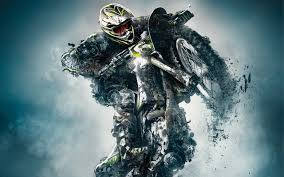 monster energy motocross biker fantasy