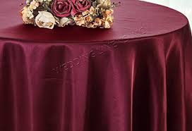 wedding linens inc 132 round heavy duty satin tablecloths table cover linens for restaurant kitchen dining wedding party banquet events burdy