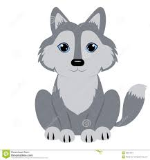 cute baby wolf clipart 1 on wolf clipart