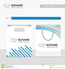 Bag Design Software Free Company Shopping Bag Design With Blue Theme And Stationary