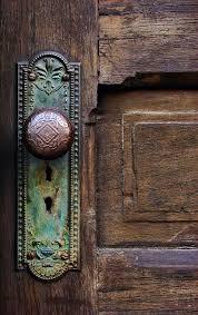Antique Door Photograph - Old Door Knob by Joanne Coyle