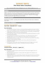 New Home Sales Consultant Resume Samples QwikResume Inspiration Resume Sales Consultant