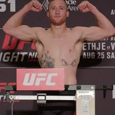ufc lincoln weigh in results and video gaethje 156 vick 156 elbow