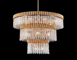 John richard lighting Gold Crystal Icicle Eighteenlight Pendant Johnrichard Luxe Home Philadelphia Crystal Icicle Eighteenlight Pendant Johnrichard Luxe Home