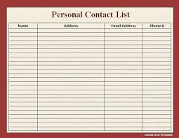 Sample Phone List Template Class Rosters Hockey Roster Office Free