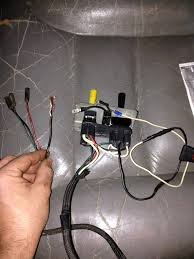 meyer toggle switch wiring help plowsite i know that the green red and black on the end plug into the 3 coils on the pump the other wire the bare th is white but appears black