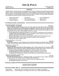 Examples Of Administrative Assistant Resume Executive Assistant
