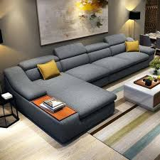 Modern couches for sale Modern Industrial Home Watacct Wave Modern Sectional Sofa Set Couch Leather Uvalue