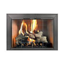 fireplace doors with er for wood burning ideas