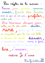 Règles De La Maison Amour Bonheur Famille French Famille