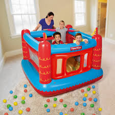 fisher 69 x 68 x 53 bouncetastic bouncer with 50 play walmart