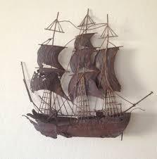 sailing ship metal wall art