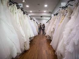 women browse wedding dresses at the original bridal swap at the croatian cultural centre