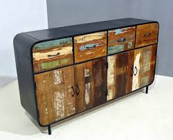 retro industrial furniture. product of the week retro industrial four door drawer sideboard furniture a