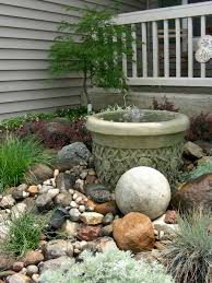 Small Picture small rock garden and fountain waterfall creations Pinterest