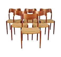 Iconic Modern Furniture Set Of Niels Otto Moller Model 71 Dining Chairs Mid Century