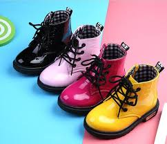 <b>2019 New Children Shoes</b> PU Leather Waterproof leather boots ...