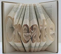 3d book arts recycle logo abstract old books