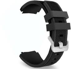CellFAther Large <b>Silicone</b> 22mm Black <b>Smart Watch Strap</b> Price in ...