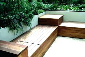 wood deck bench designs outdoor plans with storage