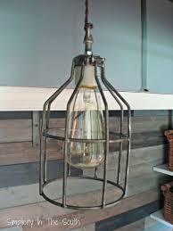 restoration industrial pendant lighting. Restoration Hardware Inspired Industrial Pendant Light, Lighting, DIY Cage Light Lighting S
