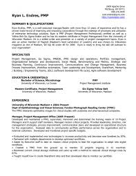 Project Management Agile Project Manager Resume Agile Project
