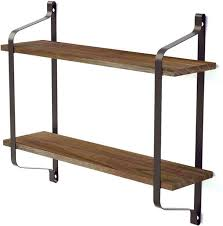3 tiers rustic floating book shelves