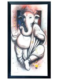 wall arts ganesh wall art wonderful nice vignette painting ideas modern 3d ganesha