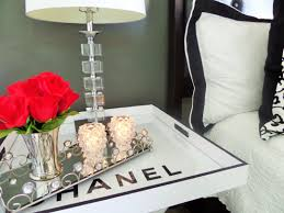you may have seen this diy chanel tray table i did on another butler s tray i know another tray lol