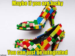 maybe if you are lucky you can just be integrated made w imgflip meme