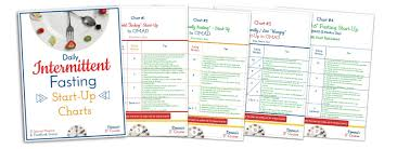 Intermittent Fasting Chart Daily Intermittent Fasting Start Up Charts Donna Reish