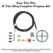 homemade propane fire pit kit build