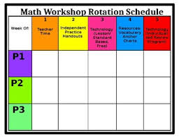 Chart Rotation Free Intervention Math Workshop Small Group Rotation Tracking Chart