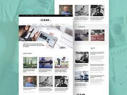 Clean Blog And Magazine Website Template Psd Download Psd