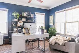 Chic office design Rose Gold Looking For Ideas And Inspiration For Home Office Design Our Modern Farmhouse Just Got Root Revel Home Office Design Chic Modern Industrial Office Reveal Root Revel