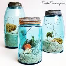 Summer in a Jar- Vintage Coastal / Beach Decor