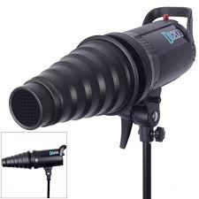 Us 8 45 6 Off Neewer Metal Body Photo Conical Studio Snoot With Honeycomb Grid For Strobe Flash Speedlight Photography Light Modifier In Photo