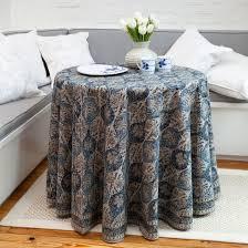mehrab round tablecloth indigo