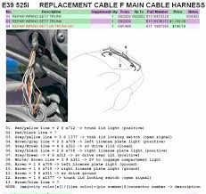 psa check your trunk wire harness bmw forums in addition the problems that occur when the end points were enervated by the broken or shorted wires might also be of use to you