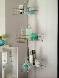 Telescopic Shower Corner Shelves Deluxe Large 100 Tiers Adjustable Telescopic Corner Bathroom Shelves 1