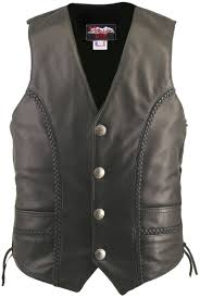 men s braided leather vest custom tap to expand