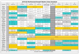Northwood Kensett 2019 2020 High School Class Schedule