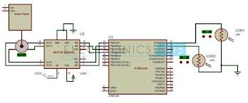 sun tracking solar panel project using microcontroller circuit diagram of sun tracking solar panel