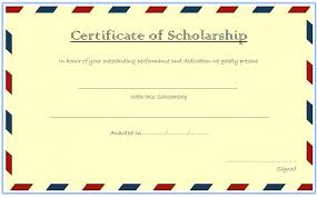 scholarship award certificate templates certificate of scholarship 7 best 10 templates