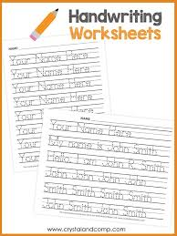 Handwriting Worksheets for Kids (You Can Customize and Edit ...