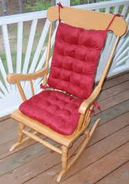 image of red luxurious wooden rocking chair cushions regarding wooden rocking chair cushions the best