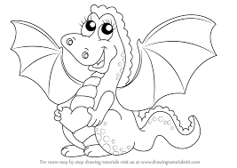 Small Picture Learn How to Draw a Baby Dragon for Kids Dragons Step by Step