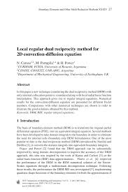 local regular dual reciprocity method for 2d convection diffusion equation pdf available